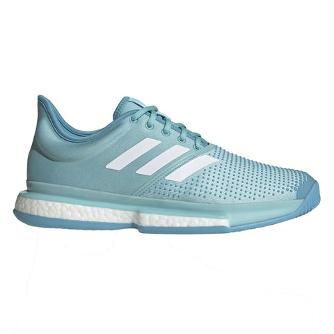 adidas SoleCourt Boost x Parley Men's Tennis Shoe (Teal/White)