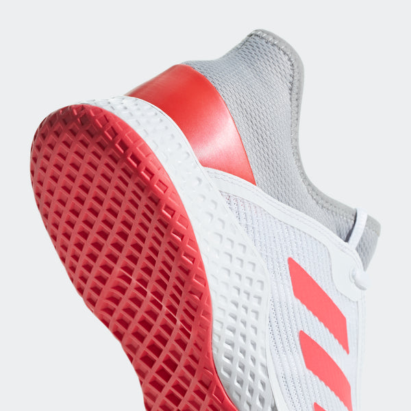 adidas Adizero Club Men's Tennis Shoe  (White/Pink/Grey)
