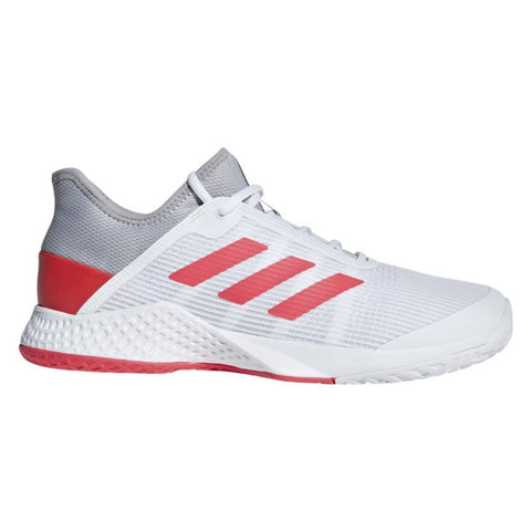 adidas Adizero Club Men's Tennis Shoe (White/Pink/Grey) - RacquetGuys.ca
