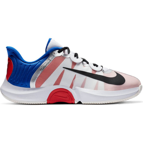 Nike Air Zoom GP Turbo Men's Tennis Shoe (White/Black/Blue) - RacquetGuys