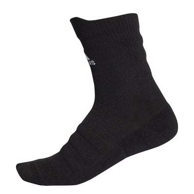 adidas Alphaskin Lightweight Cushioning Crew Socks (Black/White)