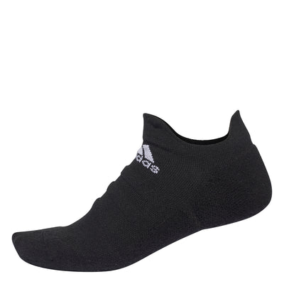 adidas Alphaskin Lightweight Cushioning No-Show Socks (Black)