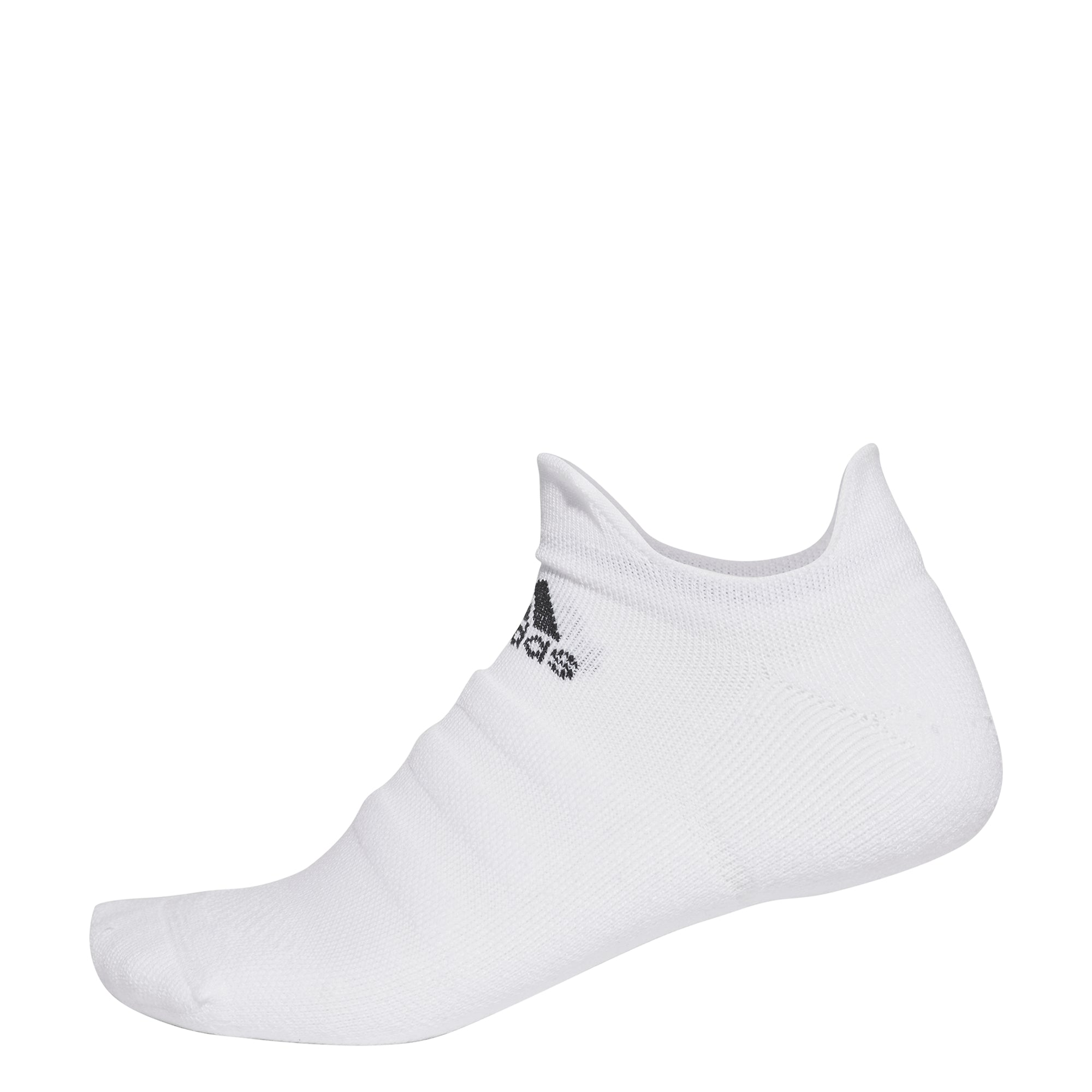adidas Alphaskin Lightweight Cushioning No-Show Socks (White)