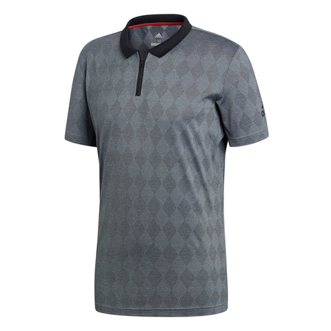 adidas Men's Barricade US Open Instinct Polo (Grey/Black) - RacquetGuys