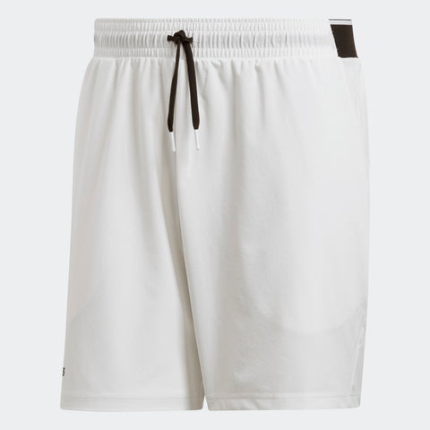 adidas Men's Club Woven 7 Inch Shorts (White) - RacquetGuys