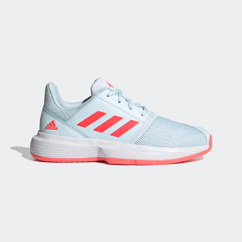 adidas CourtJam xJ Junior Tennis Shoe (White/Pink) - RacquetGuys.ca