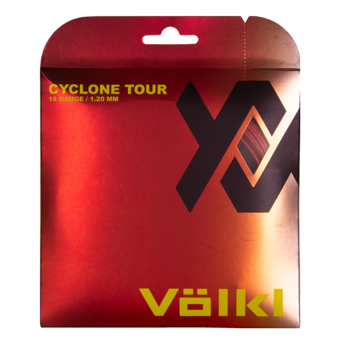 Volkl Cyclone Tour 18 Tennis String (Red) - RacquetGuys.ca