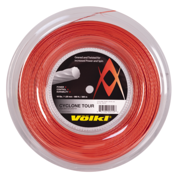 Volkl Cyclone Tour 18 Tennis String Reel (Red) - RacquetGuys.ca