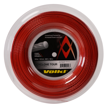 Volkl Cyclone Tour 16 Tennis String Reel (Red) - RacquetGuys.ca