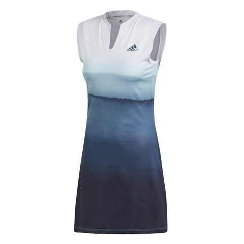 adidas Women's Parley Dress (White/Blue) - RacquetGuys