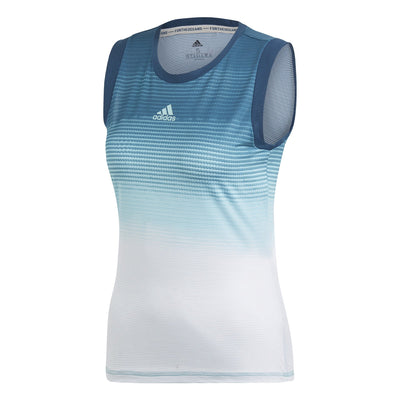 adidas Women's Parley Tank Top (Blue/White)