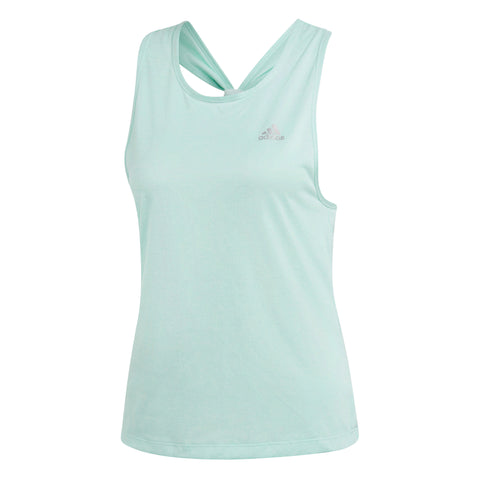adidas Women's Club Tie-Back Tank Top (Mint Green) - RacquetGuys