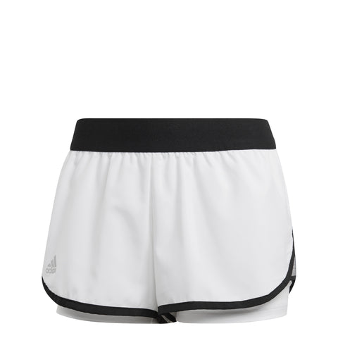 adidas Women's Club Shorts (White/Black) - RacquetGuys
