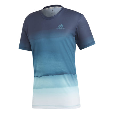 adidas Men's Parley Printed T-Shirt (Navy/Teal/White)