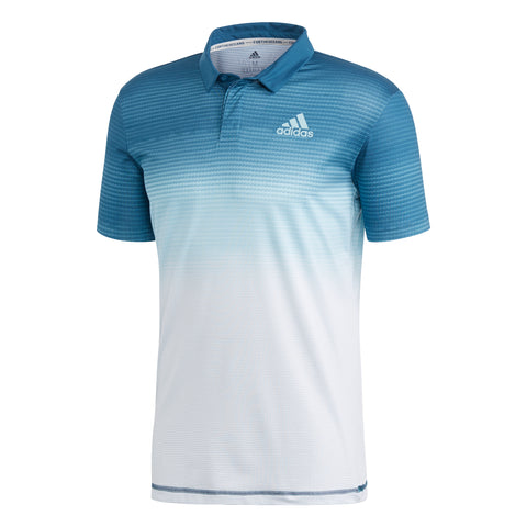 adidas Men's Parley Polo (Navy/Teal/White)