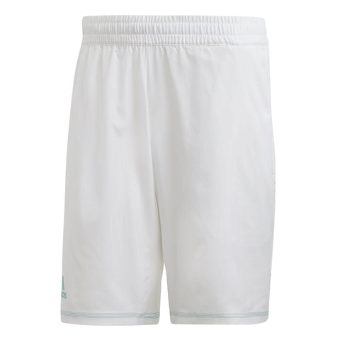 adidas Men's Parley 9 Inch Shorts (White) - RacquetGuys
