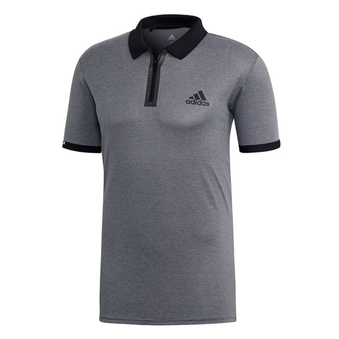 adidas Men's Escouade Polo (Grey/Black) - RacquetGuys