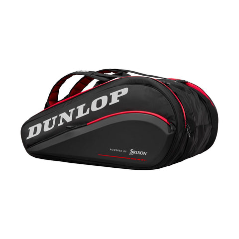 Dunlop CX Performance Thermo 15 Pack Racquet Bag (Black/Red) - RacquetGuys