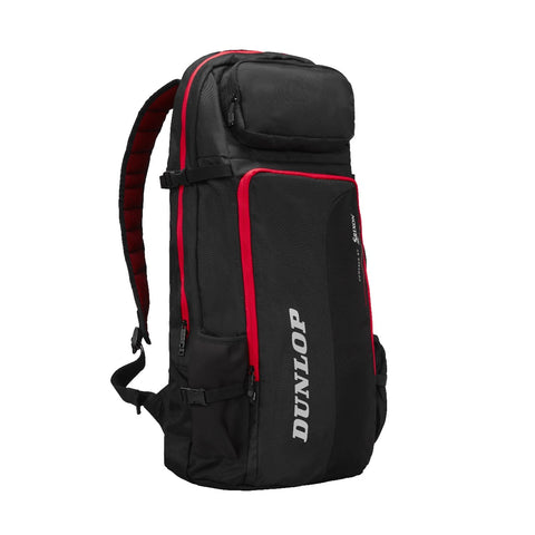 Dunlop CX Performance Commuter Backpack Racquet Bag (Black/Red) - RacquetGuys