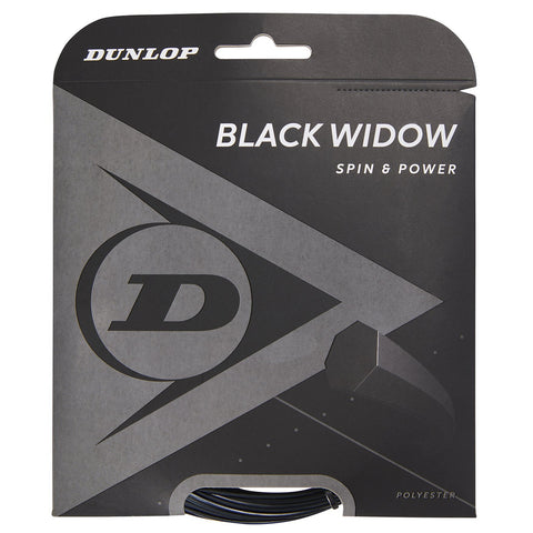 Dunlop Black Widow 16 G Tennis String (Black) - RacquetGuys