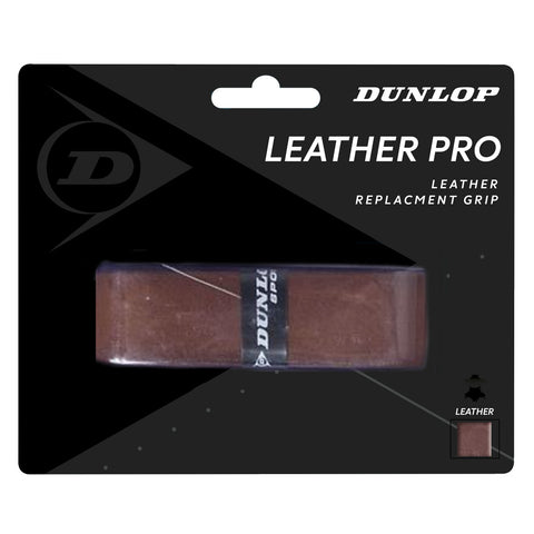 Dunlop Leather Pro Replacement Grip (Natural) - RacquetGuys.ca