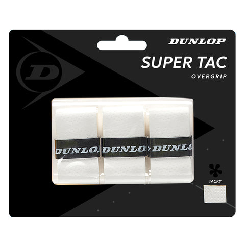 Dunlop Super Tac Overgrip 3 Pack (White) - RacquetGuys.ca
