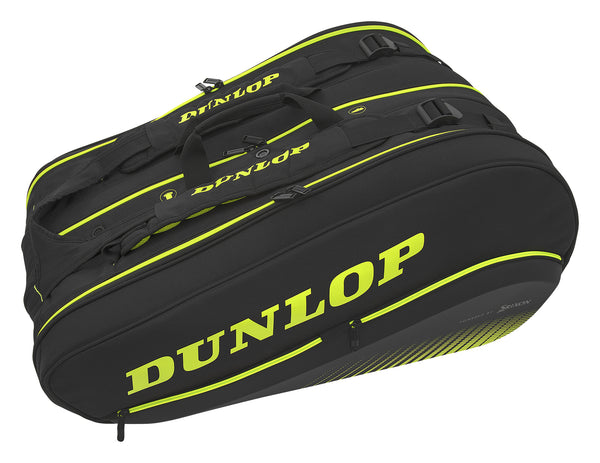 Dunlop SX Performance Thermo 12 Pack Racquet Bag (Black/Yellow)