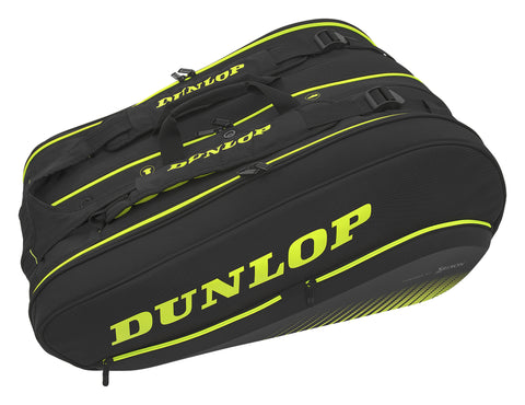 Dunlop SX Performance Thermo 12 Pack Racquet Bag (Black/Yellow) - RacquetGuys