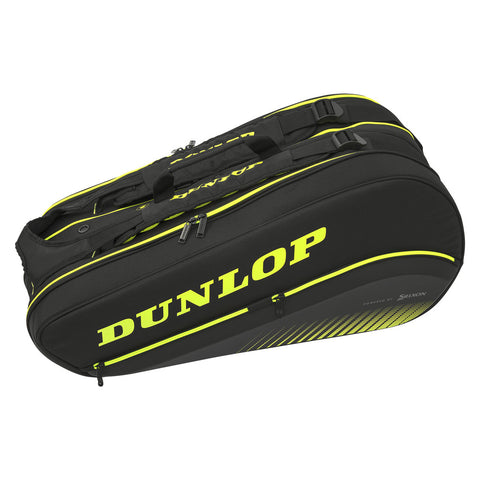 Dunlop SX Performance Thermo 8 Pack Racquet Bag (Black/Yellow) - RacquetGuys