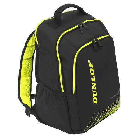 Dunlop SX Performance Backpack Racquet Bag (Black/Yellow) - RacquetGuys