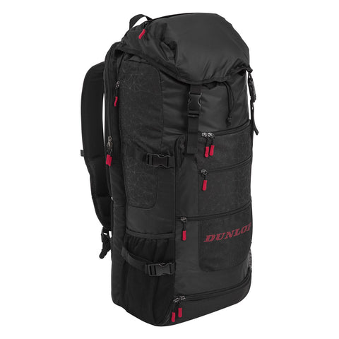 Dunlop SX Casual Sport Long Backpack Racquet Bag (Black/Red) - RacquetGuys