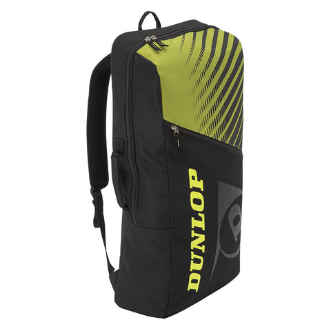 Dunlop SX Club Long Backpack Racquet Bag (Black/Yellow) - RacquetGuys