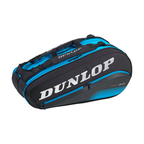 Dunlop FX Performance Thermo 8 Pack Racquet Bag (Black/Blue) - RacquetGuys