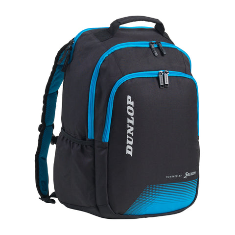 Dunlop FX Performance Backpack Racquet Bag (Black/Blue) - RacquetGuys