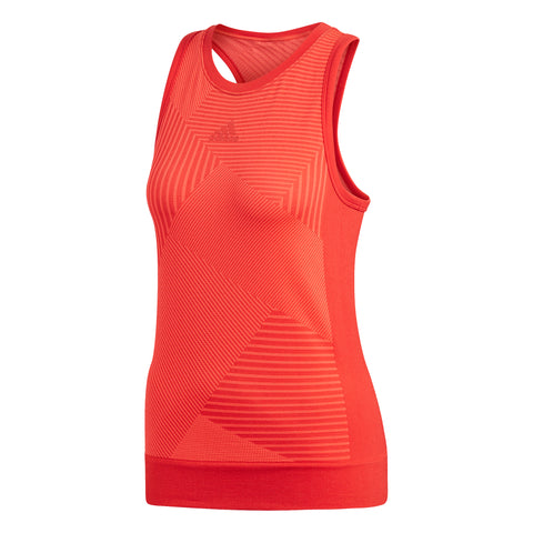 adidas Women's MatchCode Tank Top (Red) - RacquetGuys