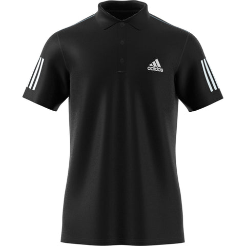adidas Men's 3 Stripes Club Polo (Black/White)