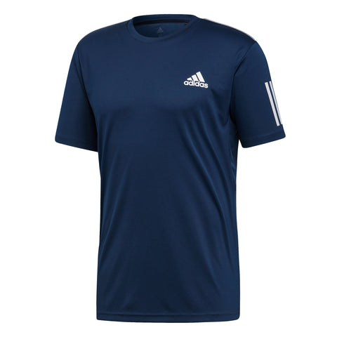 adidas Men's 3-Stripes Club Top (Conavy/White) - RacquetGuys