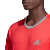 adidas Men's 3 Stripes Club Top (Pink/Grey) - RacquetGuys