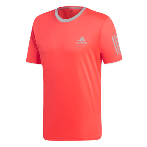 adidas Men's 3 Stripes Club Top (Pink/Grey)