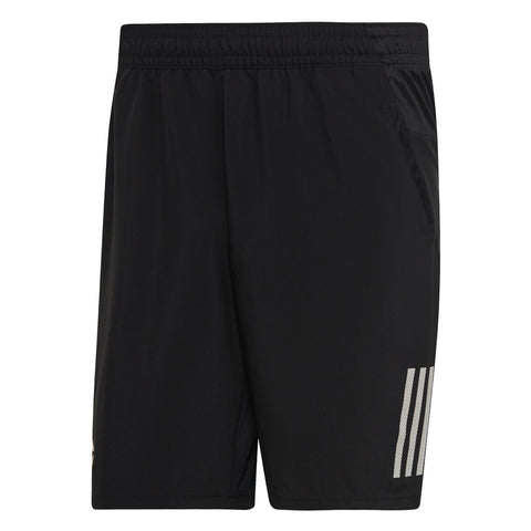 adidas Men's 3 Stripes Club Shorts (Black/White)