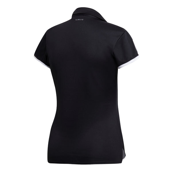 adidas Women's 3 Stripes Club Polo (Black) - RacquetGuys