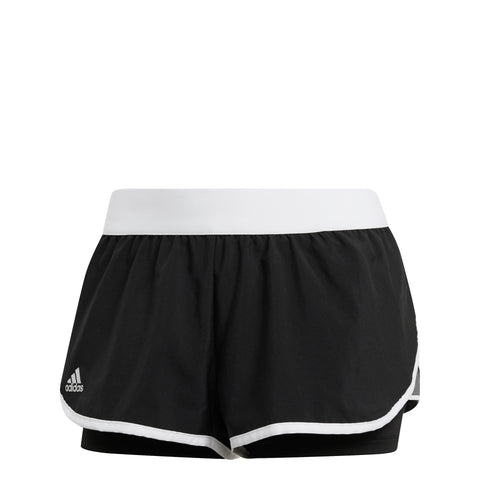 adidas Women's Club Shorts (Black) - RacquetGuys