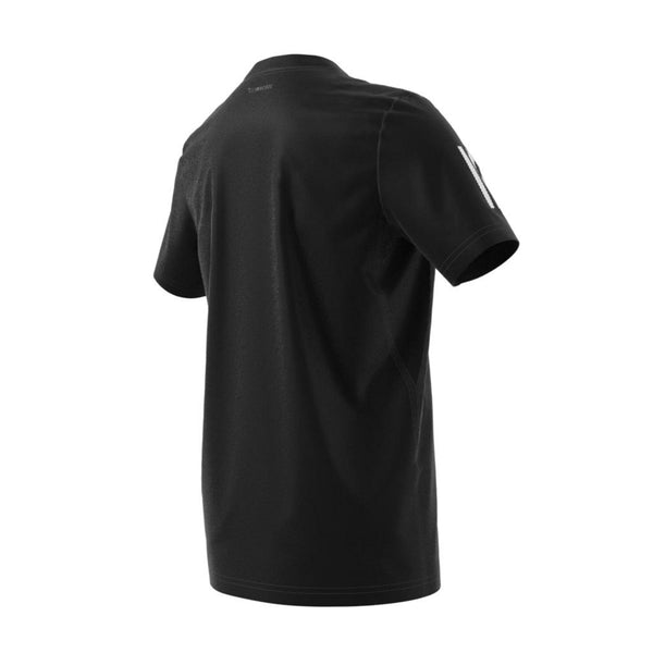 adidas Boy's 3 Stripes Club Top (Black/White) - RacquetGuys