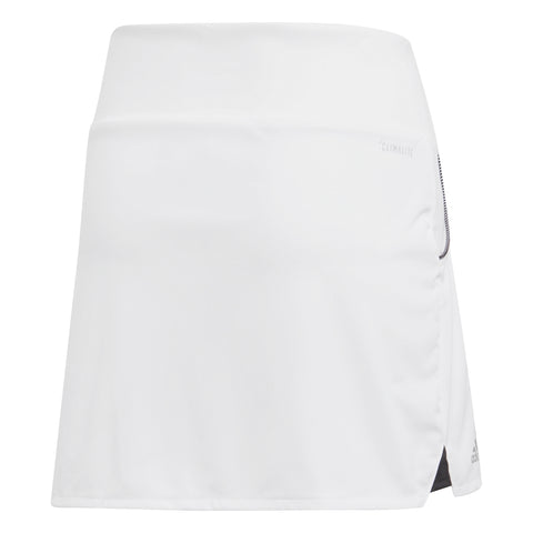 adidas Girl's Club Skirt (White) - RacquetGuys