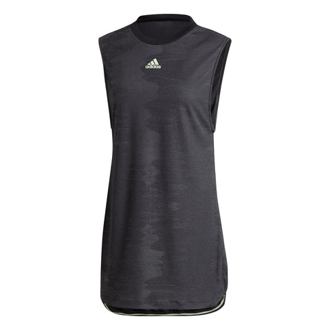 adidas Women's New York Dress (Black/Glow Green) - RacquetGuys