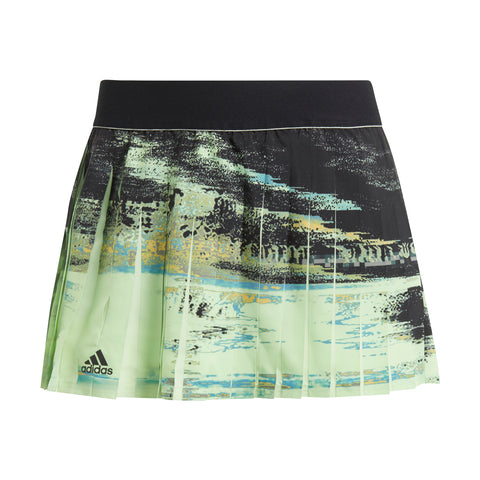 adidas Women's New York Skirt (Glow Green/Black) - RacquetGuys