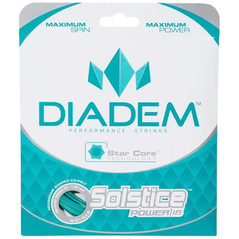 Diadem Solstice Power 18 Tennis String (Teal) - RacquetGuys