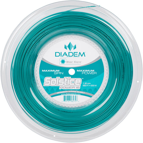 Diadem Solstice Power 16 Tennis String Reel (Teal) - RacquetGuys.ca