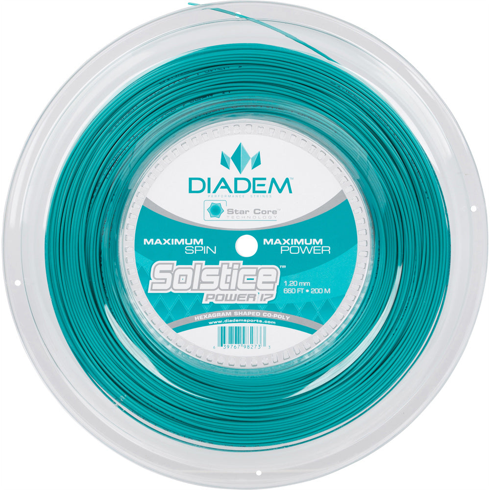 Diadem Solstice Power 17 Tennis String Reel (Teal) - RacquetGuys.ca