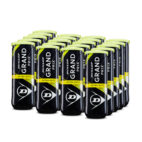 Dunlop Grand Prix Extra Duty Tennis Balls – 24 Can Case